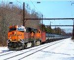 BNSF 6803 leads a K044 oil train